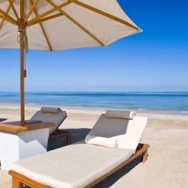 Detached villas near sandy beaches